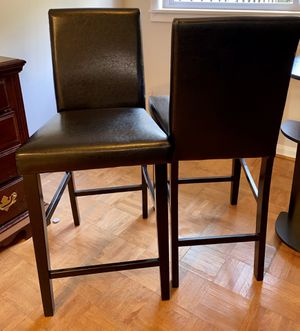 Two Tall Black Bar Chairs for Sale in Crofton, MD
