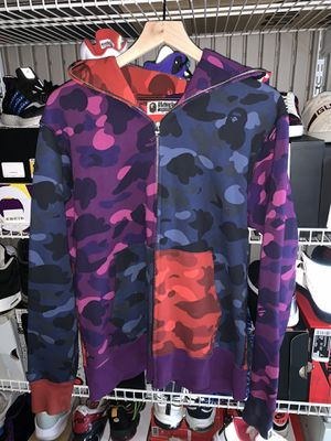 Multicolor Bape Shark Face Hoodie - Size L for Sale in Pacifica, CA