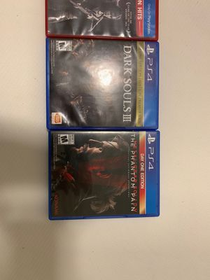 PS4 games COD black ops 4, the last of us remastered, dark souls 3, metal gear solid phantom pain for Sale in Littleton, CO