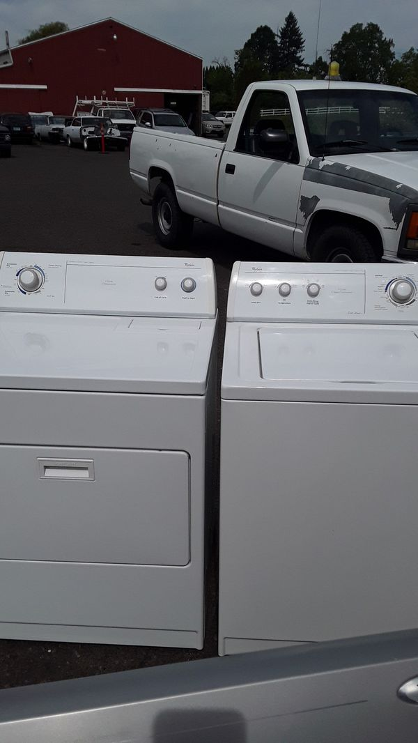 Beautiful Whirlpool commercial quality washer and dryer set rebuilt comes with a 90-day warranty