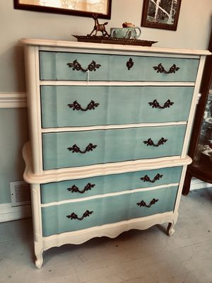 French provincial solid wood highboy dresser chest for Sale in Kensington, MD