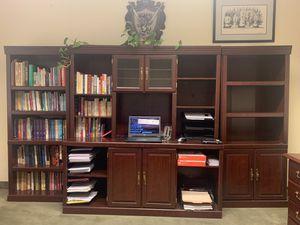 Cherry Finish Bookcase 3-piece Bookshelf Office Furniture for Sale in Murrieta, CA