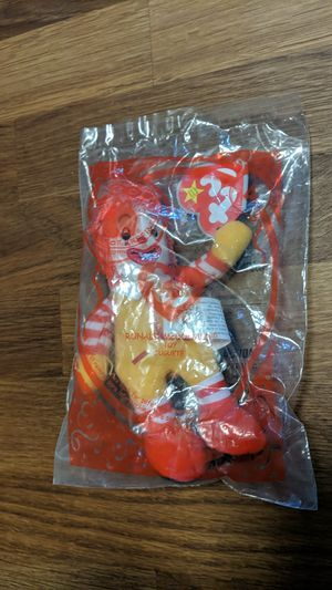 """Collectible """"Ronald McDonald"""" McDonald's Happy Meal 2009 Ty Beanie Toy - Brand New/Sealed for Sale in El Monte, CA"""