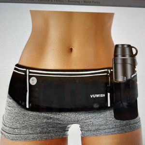 running belt fanny pack adjustable running waist pack bag with foldable water bottle holder for Sale in Rowland Heights, CA