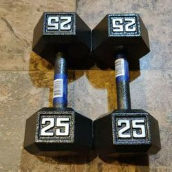 New 25lb Dumbbell 50lb Total for Sale in Tacoma,  WA