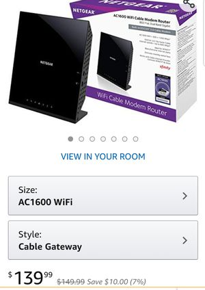 Netgear C6250-100NAS AC1600 (16x4) WiFi Cable Modem Router Combo (C6250) DOCSIS 3.0 Certified for Xfinity Comcast, Time Warner for Sale in Houston, TX