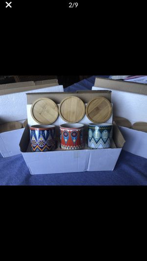 Succulent Plant Pots (set of 3) for Sale in Monrovia, CA
