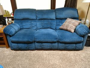 Blue massage/ heated couch for Sale in Grayling, MI