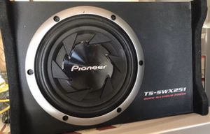 "Pioneer 10"" subwoofer with box for Sale in Modesto, CA"
