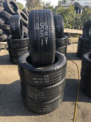 255/50/19 used tires 255-50-19 llantas usadas for Sale in Fontana, CA