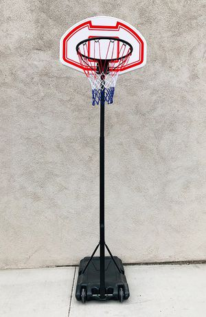 "New in box $45 Kids Junior Sports Basketball Hoop 28x19"" Backboard, Adjustable Rim Height 5' to 7' for Sale in Whittier, CA"