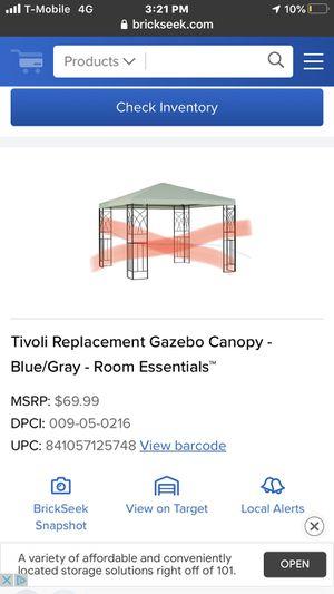 Tivoli Replacement Gazebo Canopy -Gray - Room Essentials for Sale in San Bernardino, CA