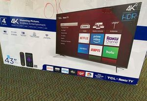 "Brand New 4K Smart ROKU TCL 43"" TV! I7FC for Sale in Hermosa Beach, CA"