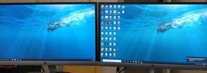 """Set of 2 HP 22"""" monitors. 22es for Sale in Elk Grove, CA"""