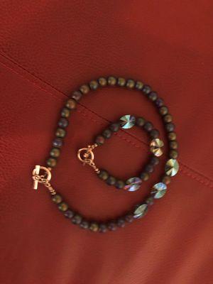 Green emerald necklace and bracelet set for Sale in Jonesboro, GA
