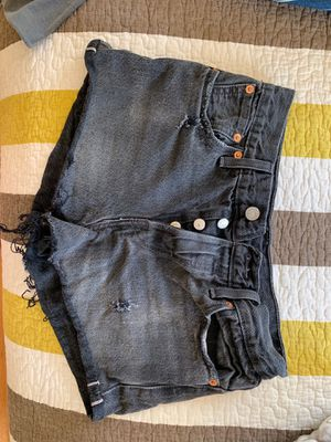 Levi high waisted shorts - black for Sale in Orlando, FL