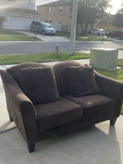 Suede Brown Loveseat best offer for Sale in Riverview,  FL