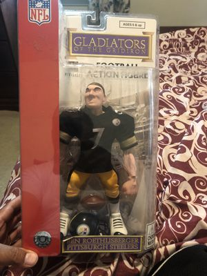 BEN ROETHLISBERGER GLADIATORS OF THE GRIDIRON PITTSBURGH STEELERS ACTION FIGURE for Sale in Beaver Falls, PA