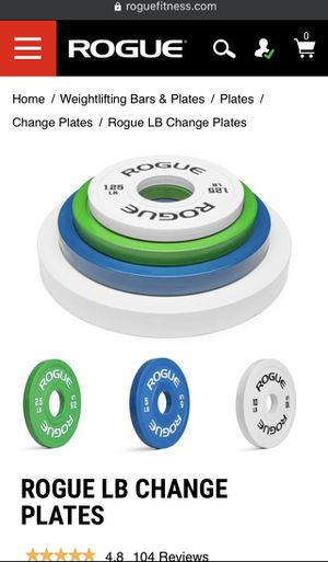 Rogue Fitness Change Plates 35lb set for Sale in Los Angeles, CA