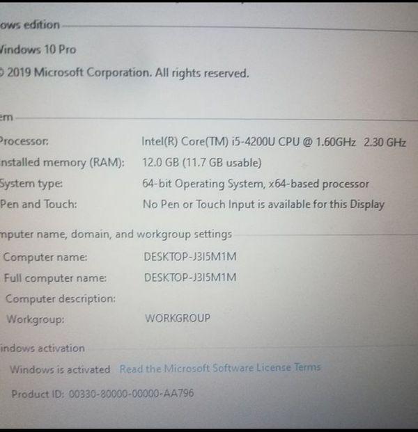 "Lenovo Thinkpad T440 20B6008EUS (14"" HD, i5-4200U 1.6GHz, 12GB RAM,"