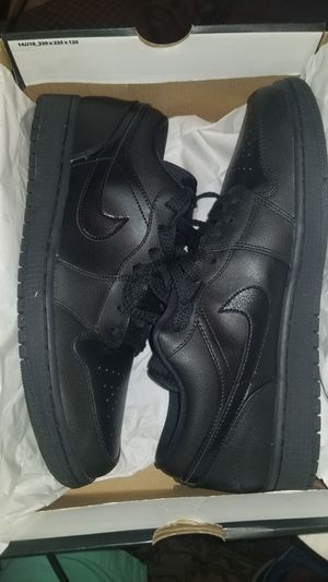 NEW Black Air Jordan 1 low men size 12 shoes NEW for Sale in Wesley Chapel, FL