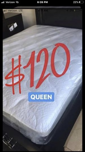 BRAND NEW PILLOW TOP MATTRESSES💯 Queen $120 ❌ $180 With Box Spring FULL SIZE $100 ❌ $150 With Box Spring Twin $80 ❌ $120 With Box Spring for Sale in Montebello, CA