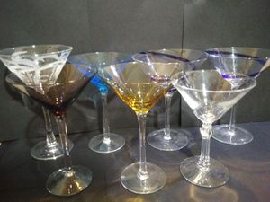 7 Martini Glasses for Sale in San Angelo, TX
