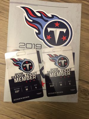 2019 Tennessee Titans Season Tickets for Sale in Brentwood, TN