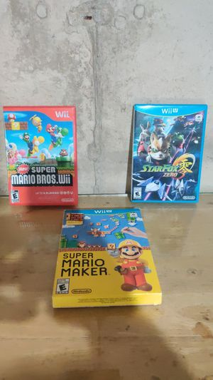 Nintendo wii u games. for Sale in FOX RV VLY GN, IL