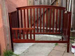 Baby Crib Child Bed Convertible with Changing Table for Sale in Fullerton, CA