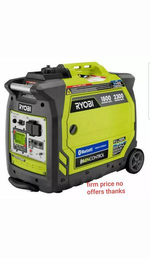 Ryobi RYI2300BTA 2300-Watt Gasoline Powered Bluetooth Inverter Generator. for Sale in Upper Marlboro, MD