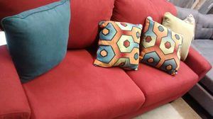 Red fabric sofa for Sale in US