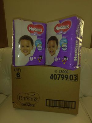 Brand new Huggies Little Movers size 6 bulk of two packs for Sale in Columbus, OH