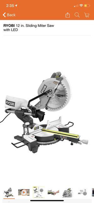 RYOBI 12 in. Sliding Miter Saw with LED for Sale in San Dimas, CA