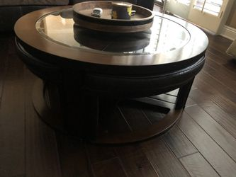 """40"""" wood and glass coffee table for Sale in Newport Beach,  CA"""