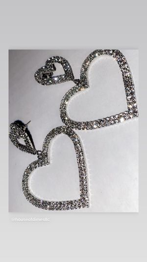 Diamond Heart Earrings for Sale in Gastonia, NC