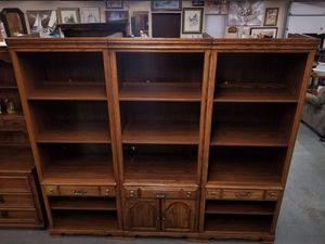 Three Piece Tall Wood Entertainment Storage Shelves / Display Shelves for Sale in Syracuse, NY