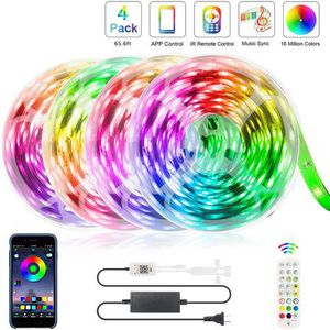 65.6FT LED Strip Lights, Ultra-Long Music Sync RGB Lights, 360LEDs SMD5050 Bluetooth App Control Dimmable Color Changing Tape Light for Bedroom, Kitc for Sale in La Verne, CA