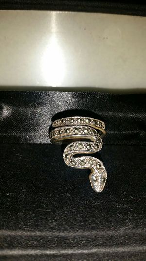 Snake Silver marcasite ring 925 stamp new size 8 for Sale in Anaheim, CA