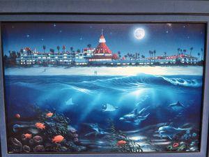 David Miller painting 19/100 moon over coronado for Sale in San Diego, CA