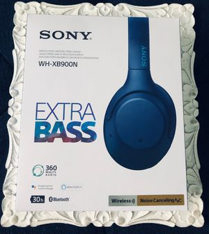 BLUE SONY WIRELESS HEADPHONES**NOISE CANCELING** for Sale in Tampa, FL