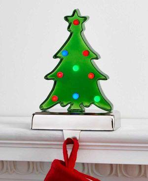 Holiday Lane Light-Up Tree Stocking Holder (Green) for Sale in Norfolk, VA