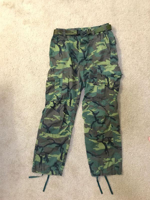 Camo Pants 33inch adjustable with belt