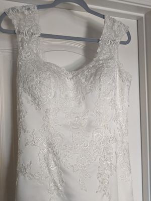 Satin and Lace Overlay Wedding Dress for Sale in Gilbert, AZ