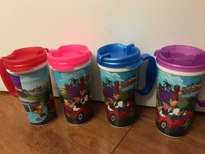 Walt Disney World Collectors Insulated Souvenir Travel Mugs Cups Set Lot of 4.all for $8(pick up only) for Sale in Alexandria, VA