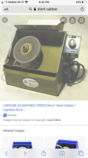 "Lortone wet 6"" Slant Cabber. for Sale in Las Vegas, NV"