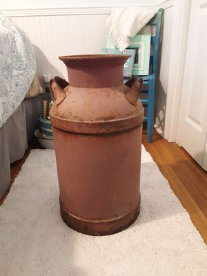 Old metal milk jug for Sale in Beaufort, SC