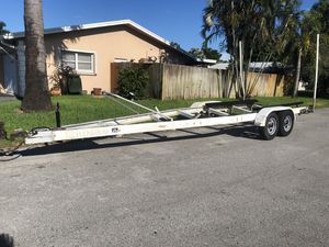 22ft Dual Axle Aluminum Trailer!!!! Registration in Hand!!! for Sale in Oakland Park, FL