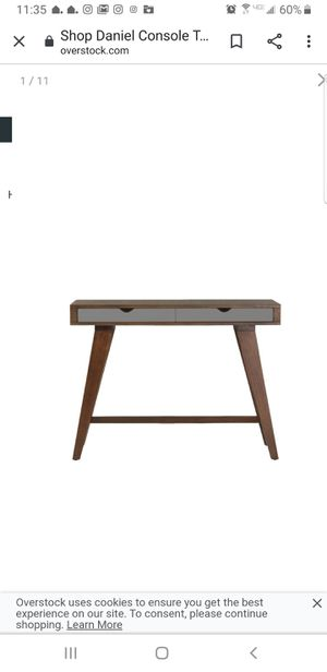 Daniel Console Table with gray front drawer for Sale in Essex, MD