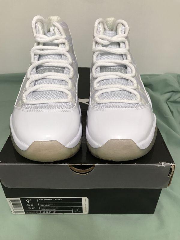 1babd7aaa196 DS Nike Air Jordan XI 11 Retro ANNIVERSARY WHITE SILVER GREY BLACK ...